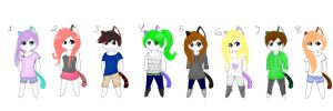 Neko Adoptables by Blue-Ink-Splatter