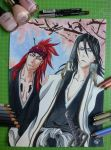 Renji and Byakuya - Sixth Squad - Bleach by SarahZaz