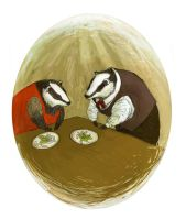 Badger Family by Tevy
