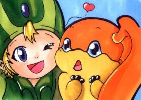 TK and Patamon by Rettungsratte