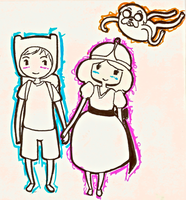 Adventure Time Doodle by tsunamisilvers