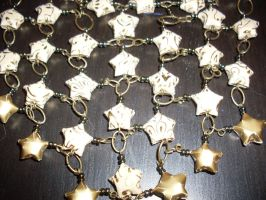 Paper Star Necklace closeup by MonnieMoero
