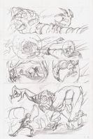 Isaac Vs. The Minions Page 1 Pencils by justinprokowich