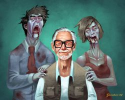 George Romero Portrait by Cgoose
