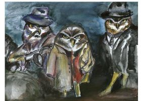 Mobster owls by Victorytea