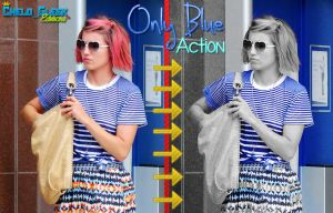 Only Blue Action by CheloGleek