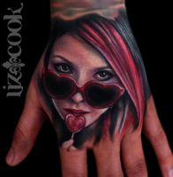 Hand Tattoo by LizCookTattoo