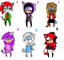 .: Sonic Adopt Batch 20 - OPEN :. by twi--adoptables