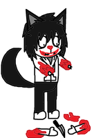 HTF - Jeff The Killer's arms got cut off by Im-Albert-Wesker