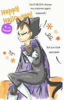 Halloween with Vegeta by BrigitTheShining