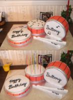 Drum Set Cake by HeatherBear555