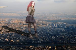 Dominating the city! (gift from Danforddan) by Amarie-Tinuviel