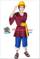 One Piece New World Monkey D Luffy Cosplay by miccostumes
