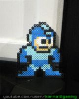Classic Megaman [Perler Art] by karma12gaming