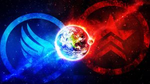 Paragon and Renegade Earth by TheFreakyYeoman