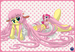 Flutterchii and Pinkie Mo by Template93