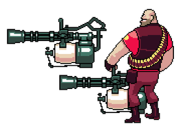 TF2 Pixel Heavy by UltraBananaBuddy