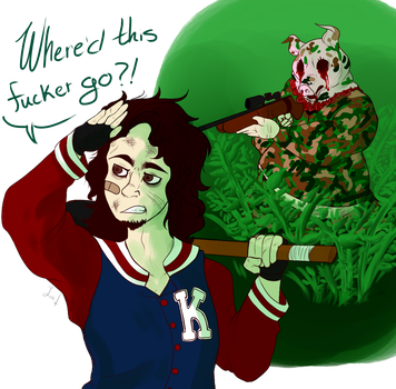 Where'd this fucker go? by Stagasaur
