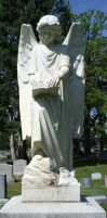 Mount Olivet Cemetery Archangel Uriel 76 by Falln-Stock