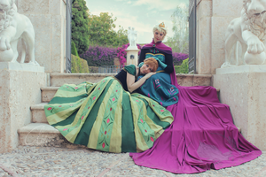 Elsa and Anna Coronation Cosplay II by Phadme