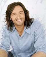 long-haired Hugh Jackman by Ururuty