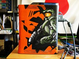 Halo 4 homemade Xbox by EnergizerII