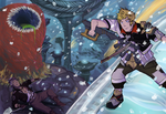 Dissidia Aces: C3/vs. Ventus vs. Abyss Worm by Moehypertunapyun00