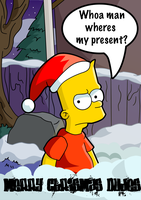 Bart's Christmas by kintobor