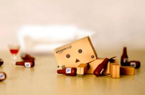 Danbo's First Drink by BryPhotography
