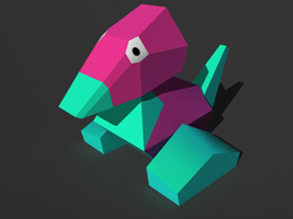 Porygon 3D by KirbytehPink
