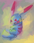 Pikachu Color Experiment: 1 by Undeniable-beliefs