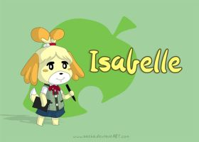 Isabelle from Animal Crossing: New Leaf by Satha