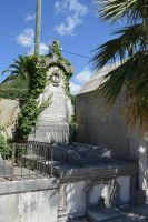 Old grave with ivy in Provence cemetery by A1Z2E3R