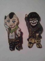 chibi soap and ghoust keychan by KazeandGeira