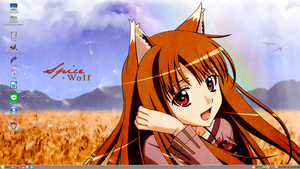 Spice and Wolf Desktop by PharaohAtisLioness
