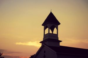 steeple at sunset by XxLonerEyesxX