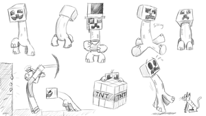 Creeper Sketches by prezleek