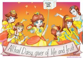 First Commission! The Powerful Princess Daisy by Marahia