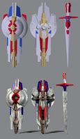 3D TF4 AoE Optimus Prime - weapons COMPLETE by RazzieMbessai