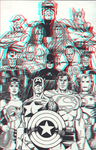 JLA and the Avengers in 3D Anaglyph by xmancyclops