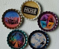 muse bottlecap magnets by bonnyblue22