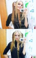 Beautiful blonde ponytails by squeezeherneck