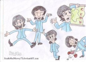 Cartoon Ringo Starrs by BeatleMadMavvy75
