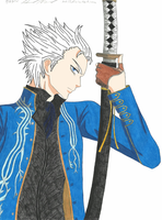 Vergil and Yamato by Sabi13