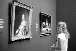Two girls in the Rijksmuseum by steppeland