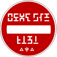 """Hyrule """"Do Not Enter"""" sign by Wolfboy183"""