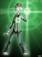lil' green lantern by Renancretino