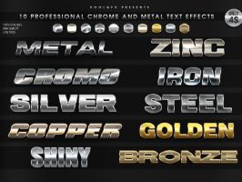 5 Professional Chrome Text Effects - PS Styles by KoolGfx