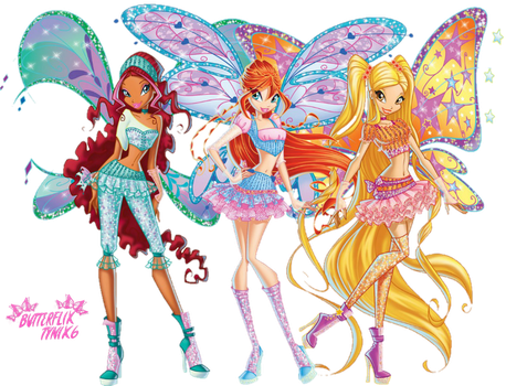 Aisha,Bloom,Stella Believix (nick version ) png by ButterfixTynix6