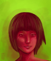 speed paint: red and green by Kiniki-Chan